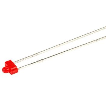 3 volt Fast Flashing Red 1.8mm LED (not pre-wired)